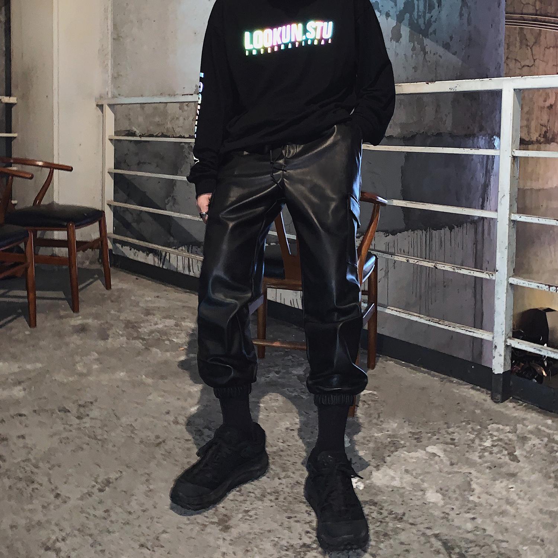 Кожаные брюки Артикул 609523771698