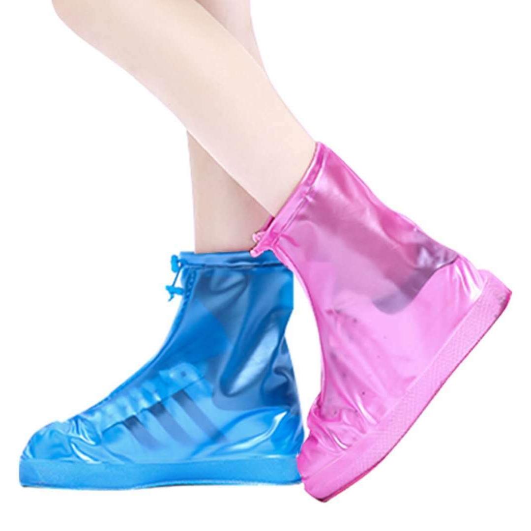 防滑款百搭防水鞋套户外旅游防雨鞋套男女学生雨靴套