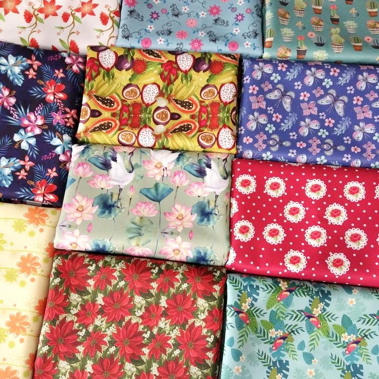 防水面料 数码印花箱包手袋布料 桌面窗帘门帘复合印花装饰布料