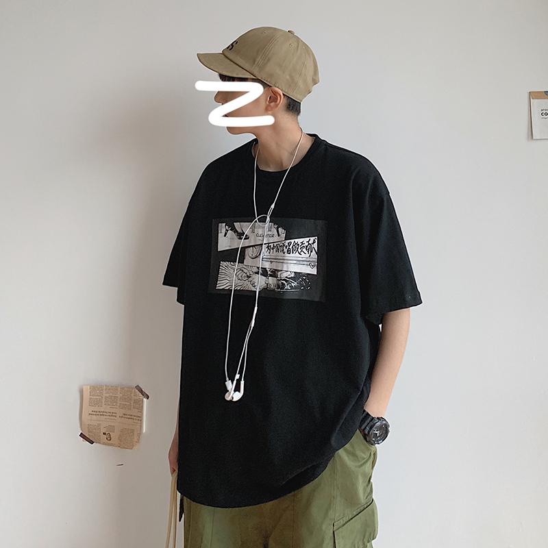 (用48元券)夏季超火cec潮男网红短袖男生t恤
