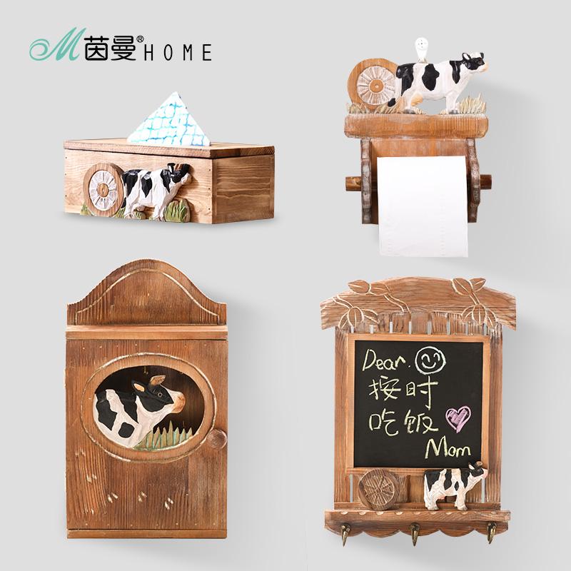 茵曼home 现代简约创意环保实木 抽纸盒纸巾盒收纳盒餐巾盒