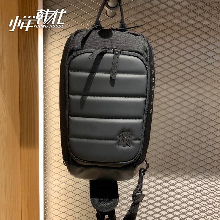 韩国MLB正品户外运动单肩斜跨包男女大容量休闲包胸包 32BGA2941正品保证