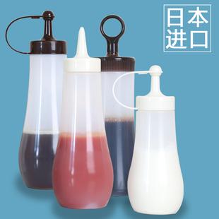 日本进口蜂蜜尖嘴瓶厨房防漏油瓶塑料油壶挤酱瓶果酱沙拉酱挤压瓶价格