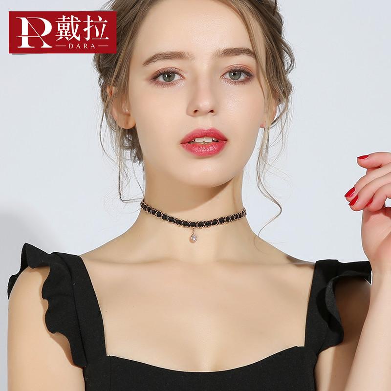 戴拉 蕾丝气质颈链choker颈带女 韩国版短款简约锁骨链项链颈圈