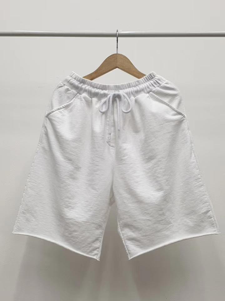 INSIDE...M%韩国东大门女装2020夏季松紧抽绳口袋直筒破边休闲裤