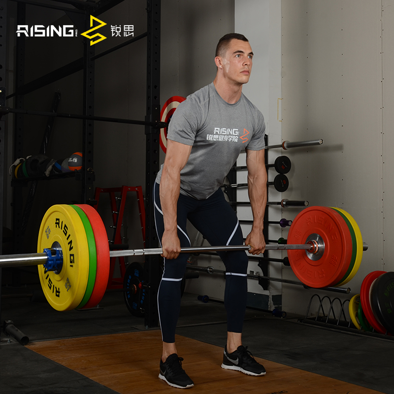 Rising risi CPU barbell piece big hole 50 mm full rubber barbell counterweight piece squatting and lying down to push heavy piece