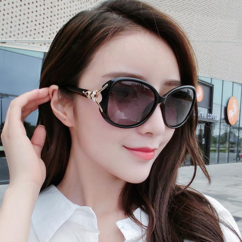 新款时尚潮流狐狸头太阳镜 女士大框太阳眼镜 经典偏光镜百搭墨镜12月02日最新优惠