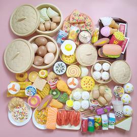 儿童过家家厨房玩具宝宝仿真食物套装早教蒸笼做饭早餐男孩女孩