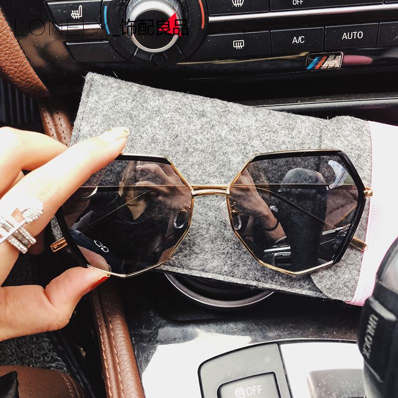 2018新款时尚偏光太阳镜女韩版潮复古风墨镜网红眼镜圆脸防紫外线