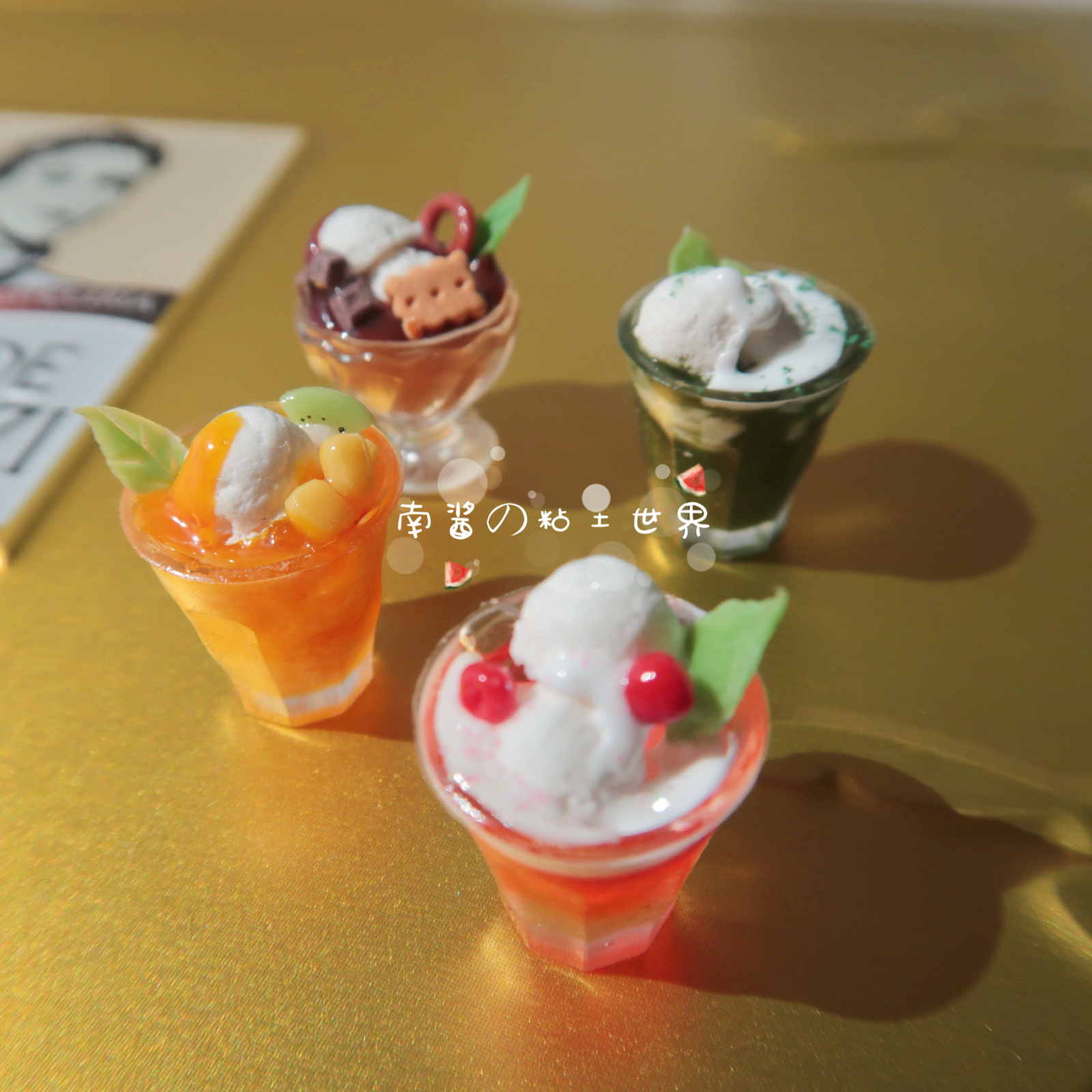 New miniature food game hand made drink cup ob11 Mini scene 12 points Dollhouse Baby House accessories BJD