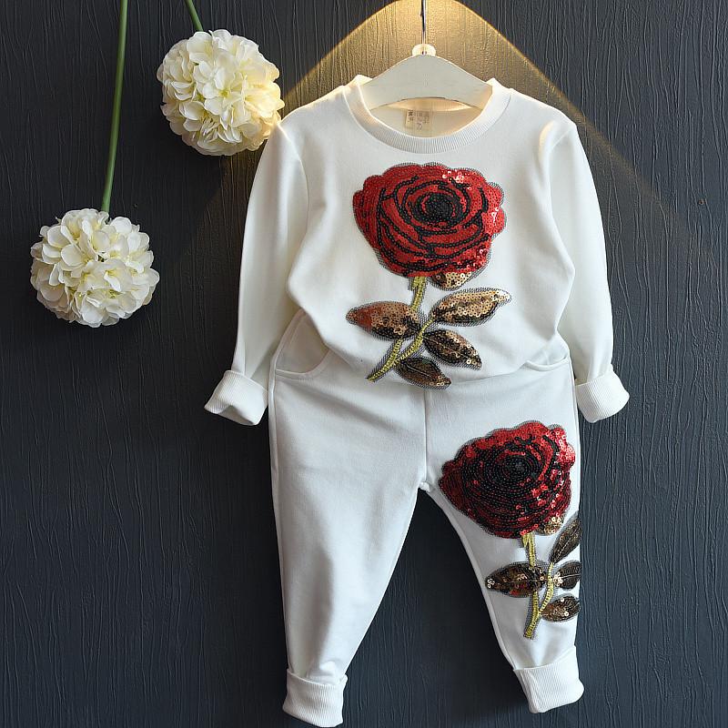 2016 дети попадают новые вышивка пайетками Повседневная одежда для мальчиков костюмы куртки брюки костюмы, двухсекционный