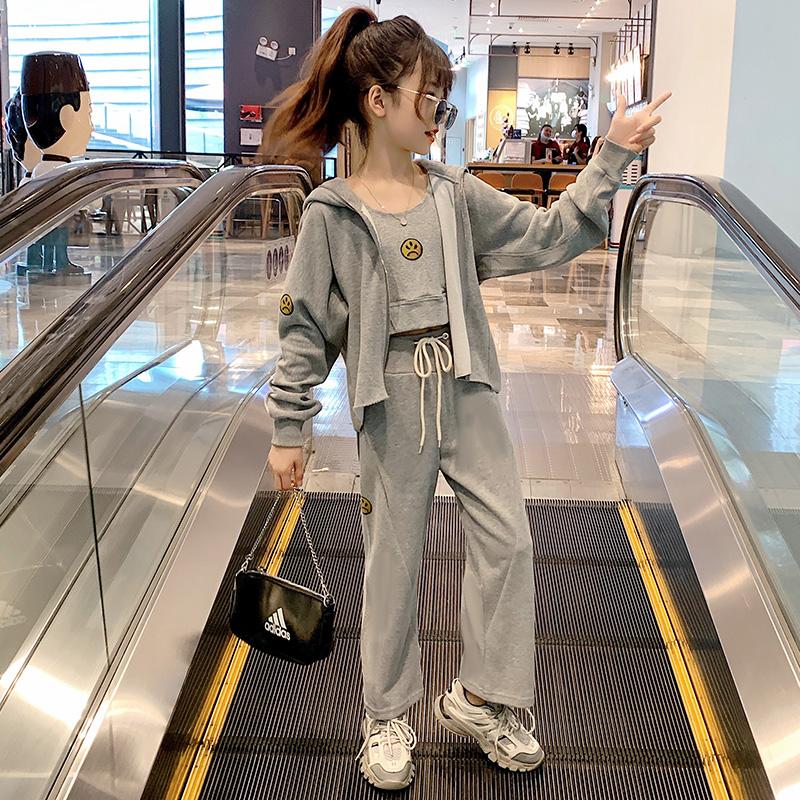 女童秋装套装儿童网红洋气2020新款韩版时髦大童装女孩运动衣服潮