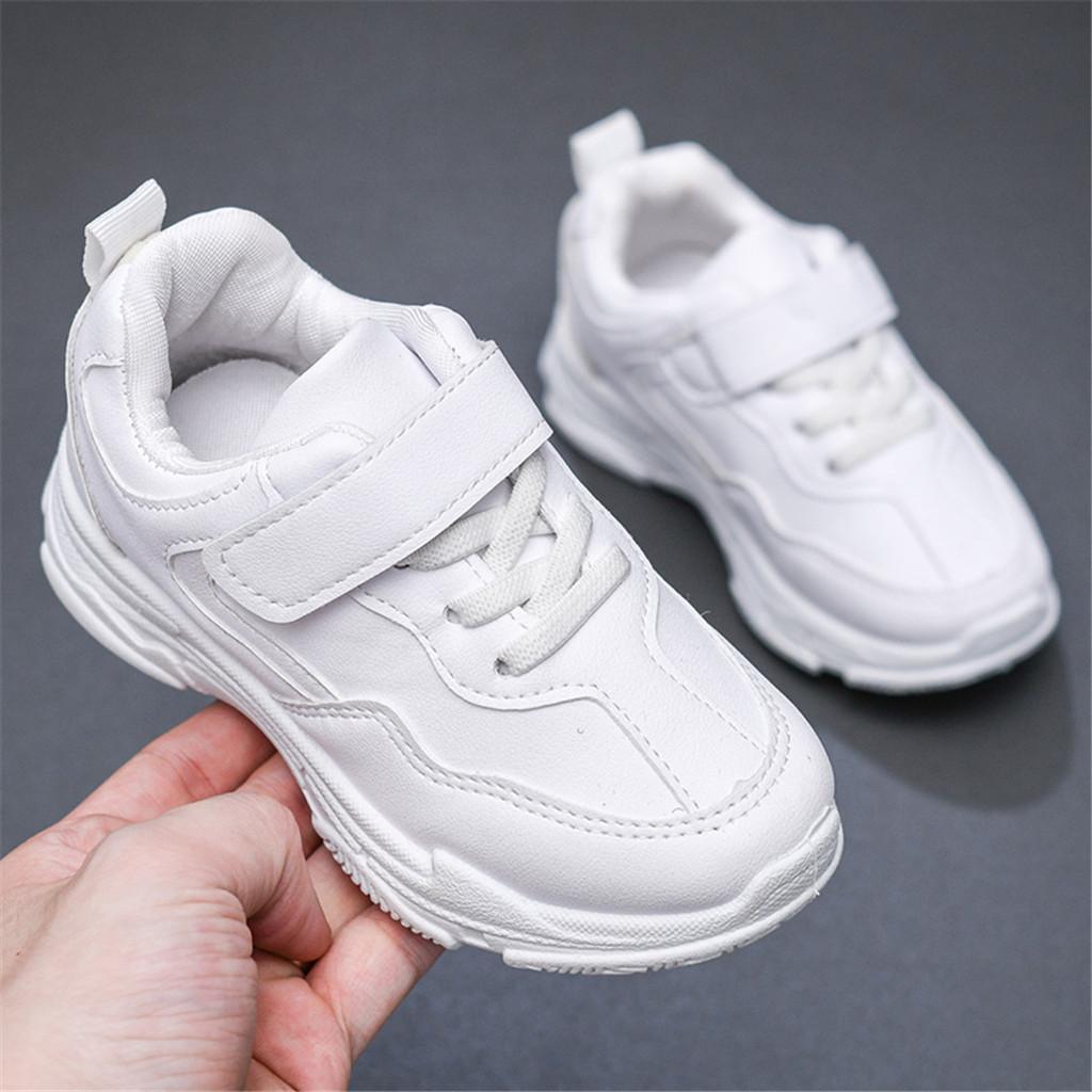2019春秋款儿童小白鞋运动鞋男女童鞋透气学生鞋韩版中大童跑步鞋(用118.1元券)