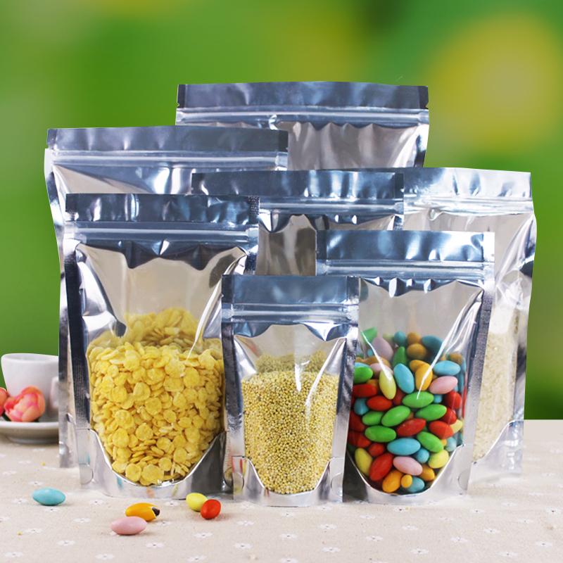 阴阳自立袋自封袋密封口袋干果花茶特产半透明食品包装袋子批发