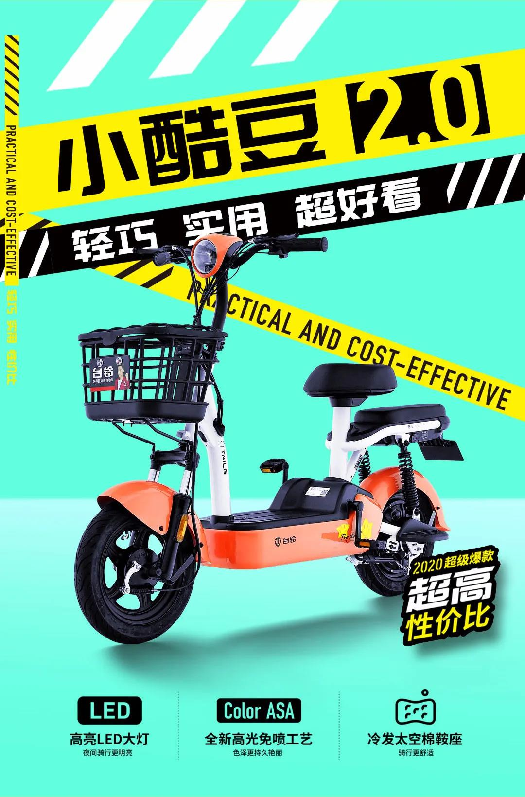 Tailing electric bicycle new national standard adult electric bicycle small battery car