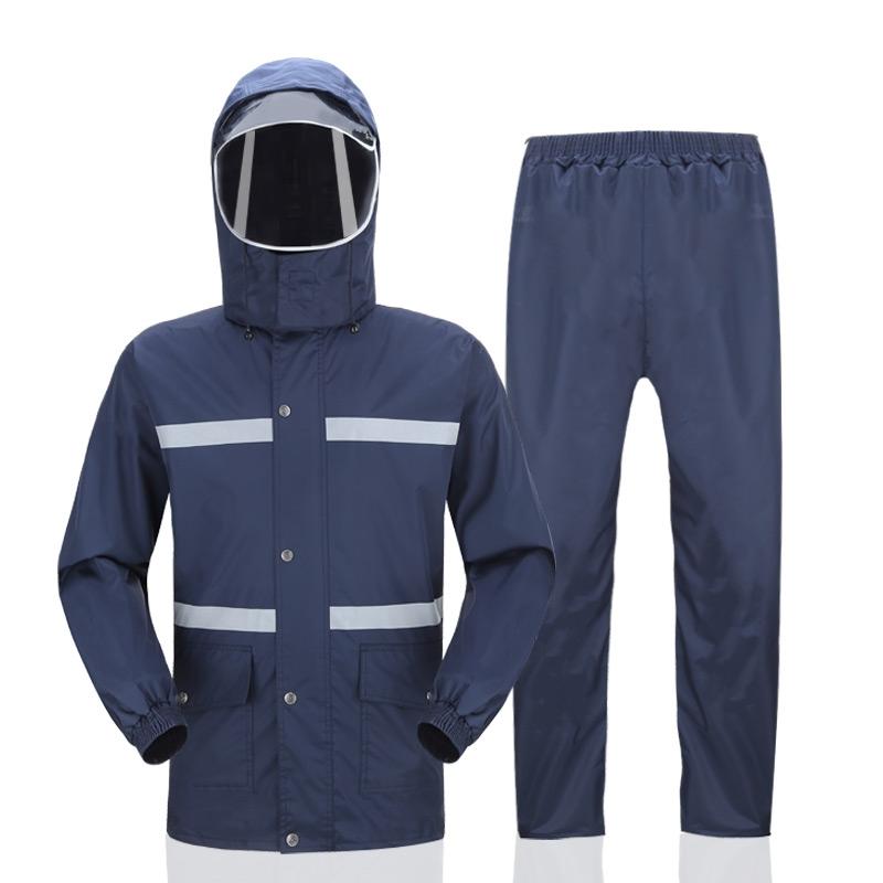 热销2件包邮防暴雨雨衣雨裤套装分体成人男女摩托电动车徒步骑行外卖雨衣防水