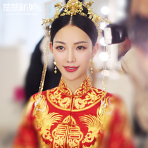 Chuchu bride Xiu wo Clothes Headwear chinese antique 2018 new wedding hair decoration marriage toast dress Phoenix Crown Jewelry
