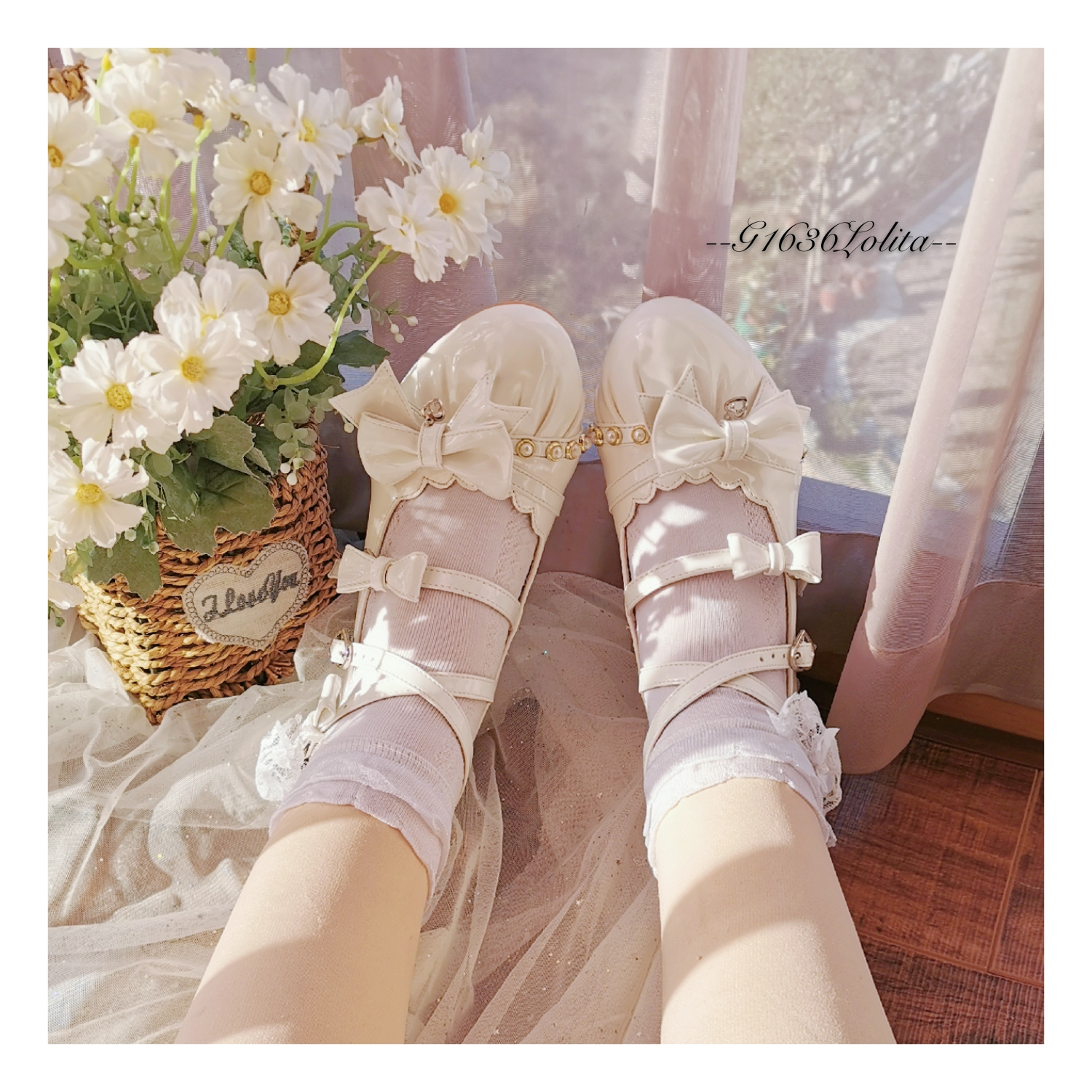 G1636 lacquer piliana original bow Japanese tea party Lolita round head Mary Jane womens shoes Yu for sale