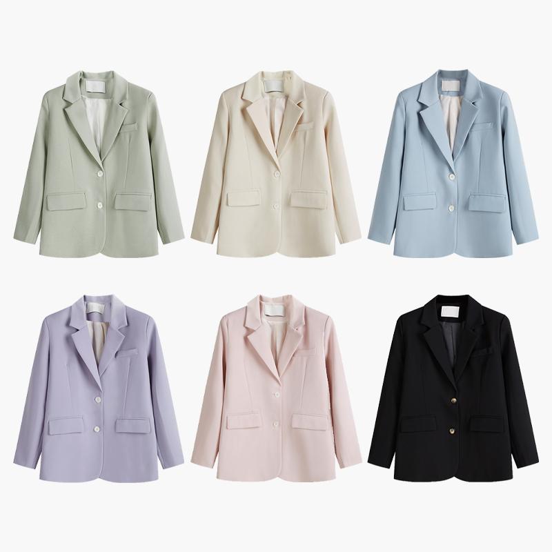 羊城故事黑色西装外套女小个子春秋2021年新款韩版宽松英伦风西服
