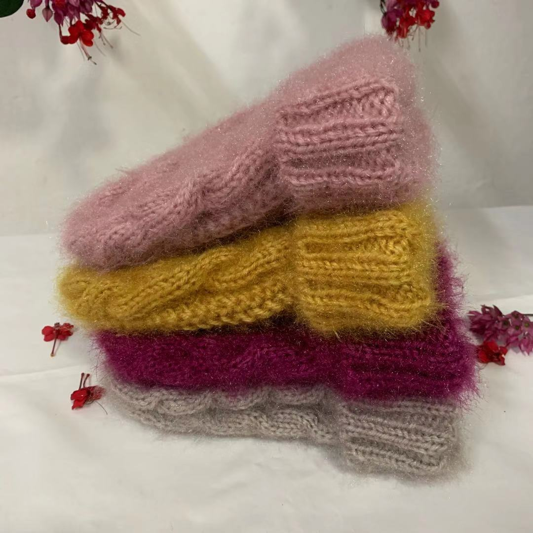 Korean twist handmade Plush Hat Winter lovely wool thick thread warm knit hat couple hat
