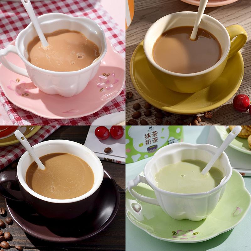 【奶茶咖啡礼盒】杯口留香冲饮港式抹茶奶茶法式拿铁卡布奇诺咖啡