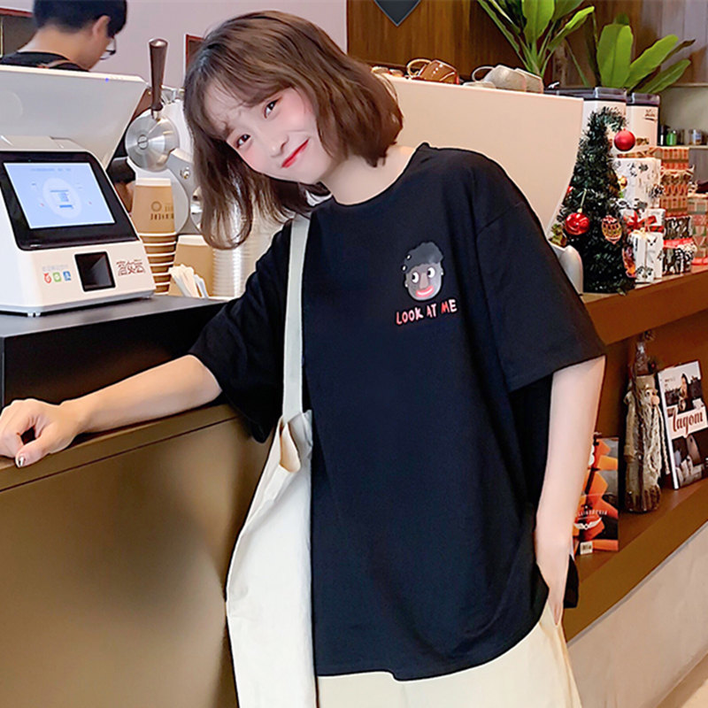 韩版网红白色t恤女短袖宽松百搭港风上衣 券后¥16.9