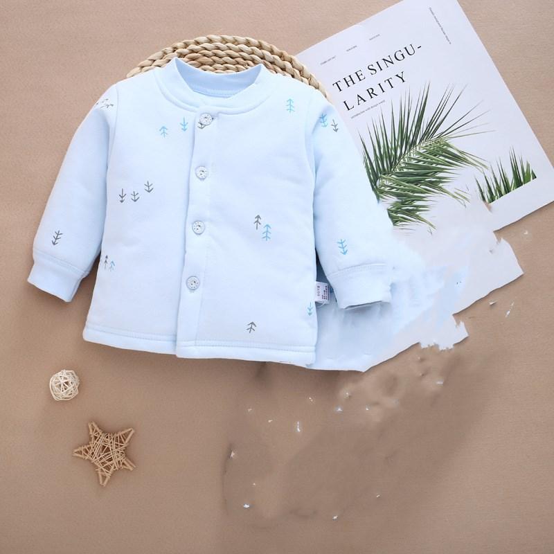圣凡欧秋冬季儿童保暖南极棉纯棉衣婴儿开衫夹棉袄宝宝内胆棉上衣
