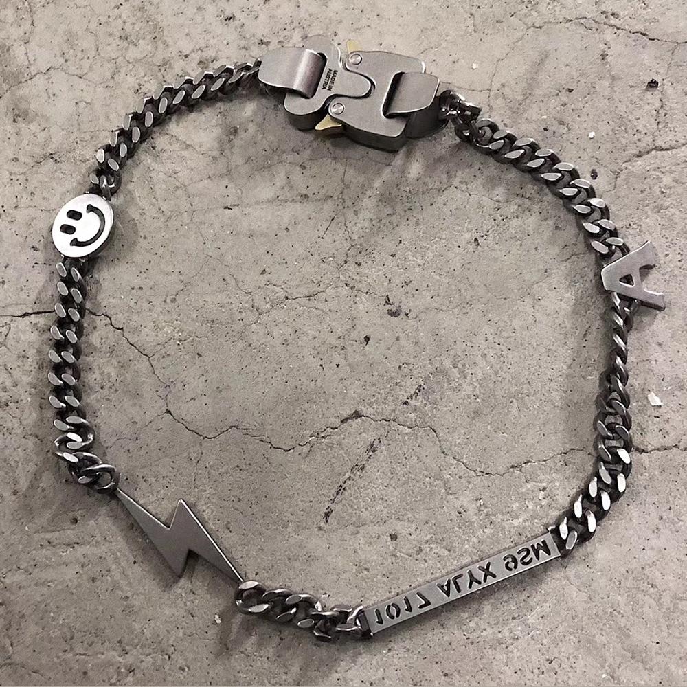SAZ Hero Chain 原创高街机能风金属安全扣INS男女网红钛钢短项链图片