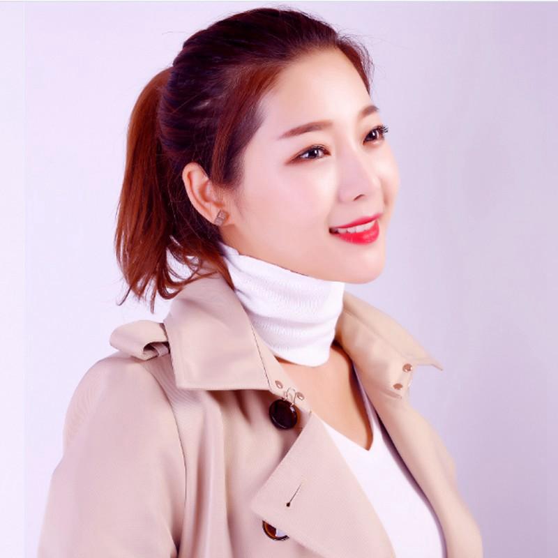 Autumn and winter cashmere Bib neck protection cervical neck cover female winter warm false collar