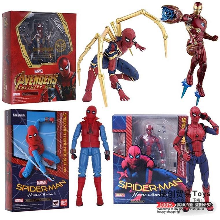 SHF 国产 复仇者联盟 蜘蛛侠英雄归来超可动关节人偶玩具模型手办