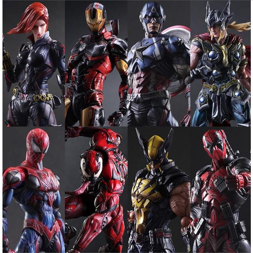 Avengers alliance changes iron man spider man hand made model death service us captain Raytheon movable Doll Toy