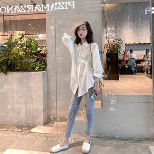 小谷粒白衬衫女设计感小众长款上衣轻熟洋气港味长袖显瘦外套新款