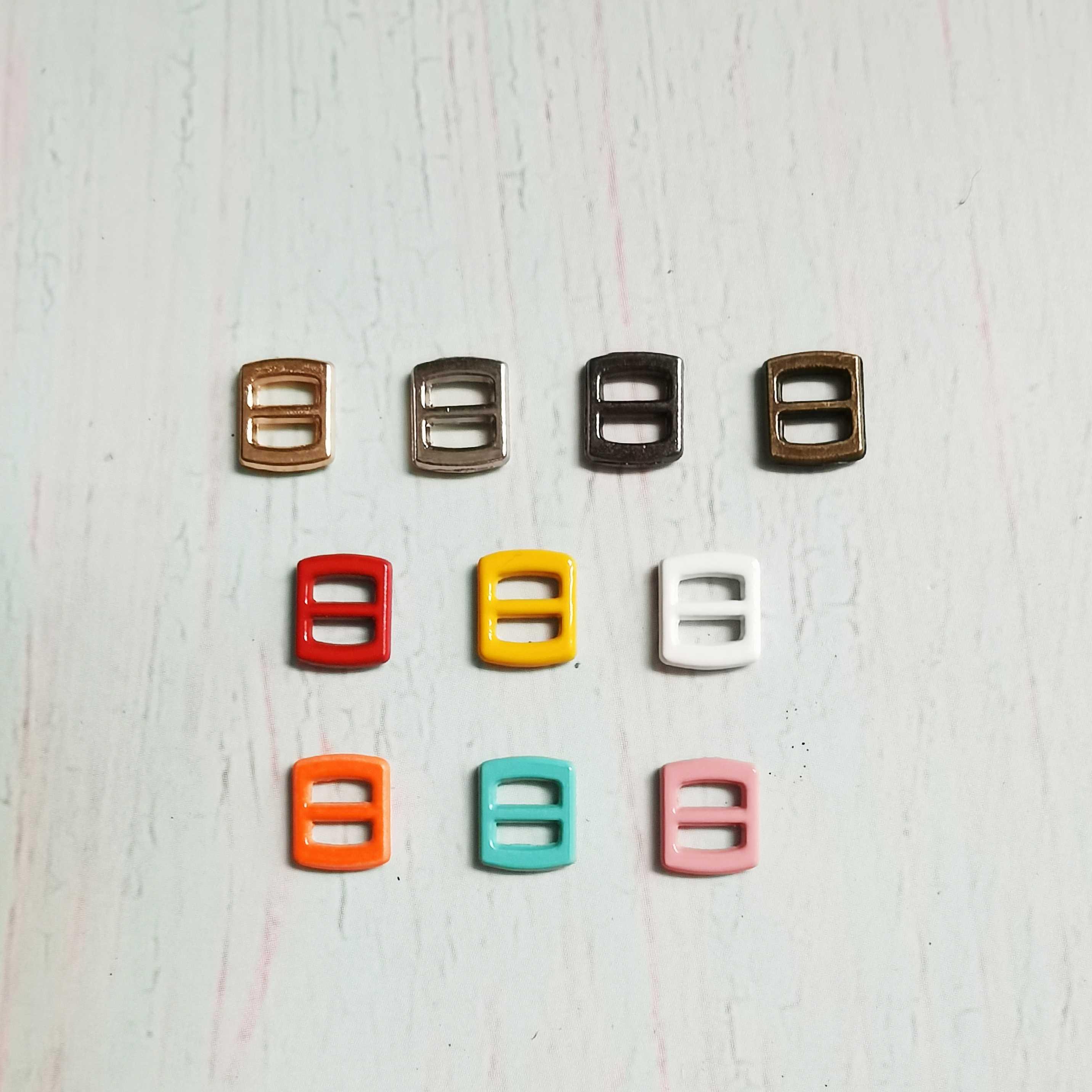 内径3mm日字扣bjd小布可儿bjd娃娃衣迷你扣子小号彩色皮带扣纽扣