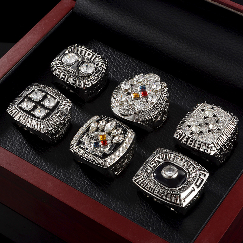 NFL Pittsburgh Steelers 1974 1975 1978 2005 2008 6-Piece set ring wish