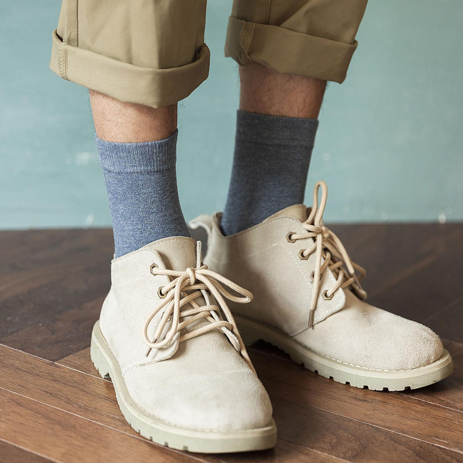 長襪子男士中筒襪純棉防臭吸汗秋冬春秋季全棉男生潮韓版純色長筒