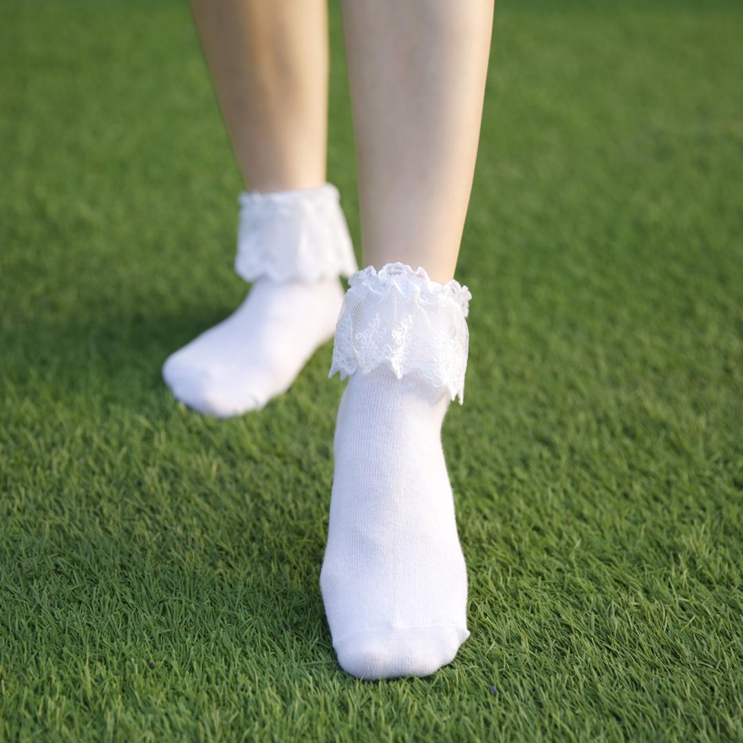 袜子女短袜纯棉袜日系蕾丝公主花边袜lolita原宿学生ulzzang成人