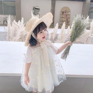 女童连衣裙夏儿童短袖洋气小雏菊蓬蓬裙女宝宝夏装公主裙婴儿裙子图片