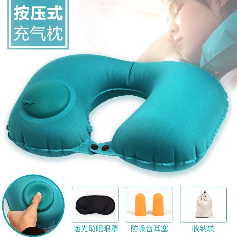 限时抢购便携充气枕头坐车睡觉神器旅行枕