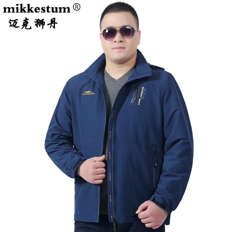 High end brand extra large mens spring new sports jacket fat mans coat extra fat extra large loose