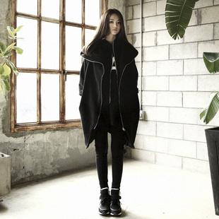 原创设计师女装品牌秋冬外套中长宽松显瘦小众个性卫衣加绒厚上衣