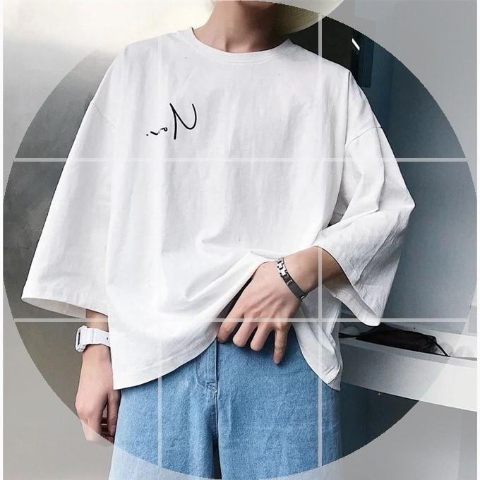 7七分袖男夏季男士短袖宽松T恤韩版潮流衣服帅气男装学生五分袖男