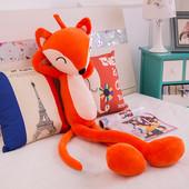毛绒玩具可爱狐狸豹布娃娃细长腿玩偶粉红阿狸公仔生日礼物送男女