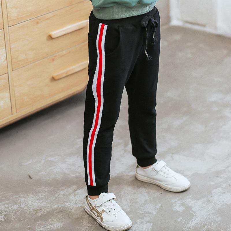 2018童装春季男童侧边织带休闲运动裤子110-160码1025