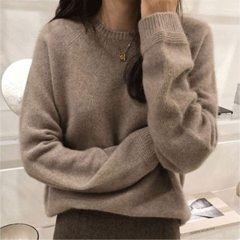 Anti season clearance, autumn and winter new womens thickened cashmere sweater