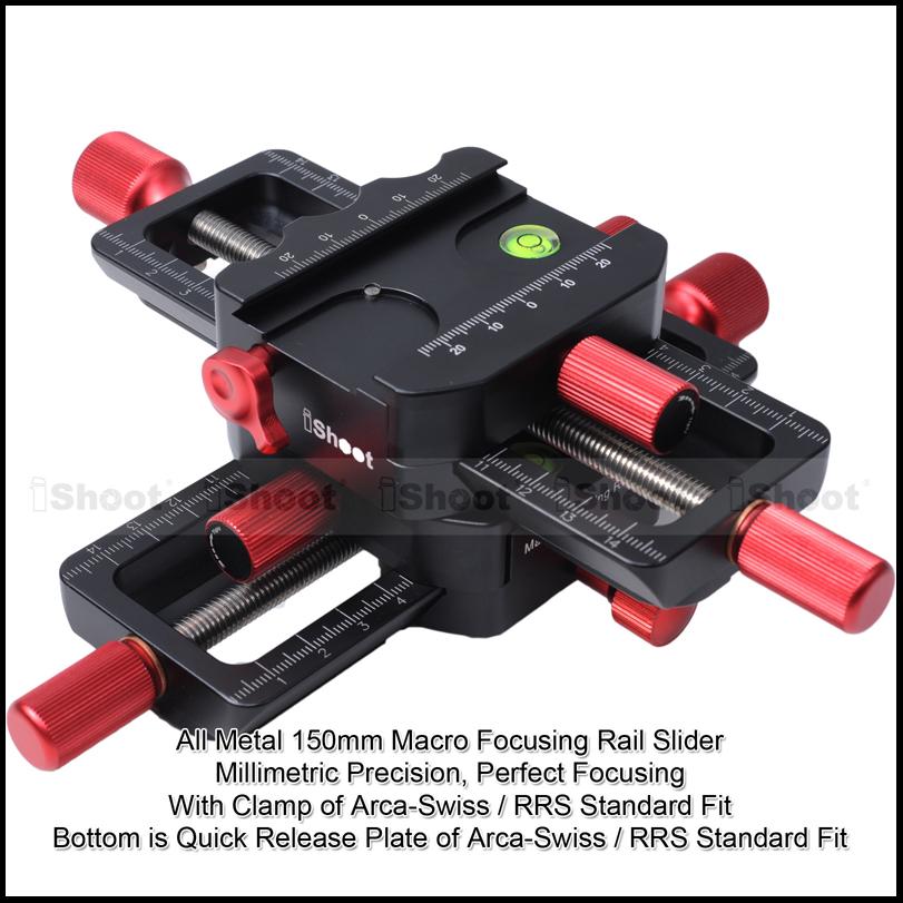 MFR150微调云台 对焦点堆叠齿轮微距导轨双向云台 翻拍架云台套装