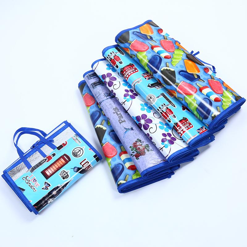 Enlarged beach mat portable folding picnic mat moisture pad floor mat climbing pad