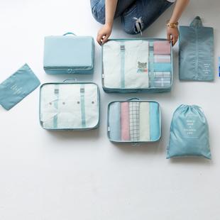 旅行收纳袋束口袋套装衣服整理打包袋旅游行李箱衣物内衣收纳包品牌