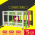 Supermarket's new metal rotating promotion car dumped folding stall car low price processing table float display rack sales truck