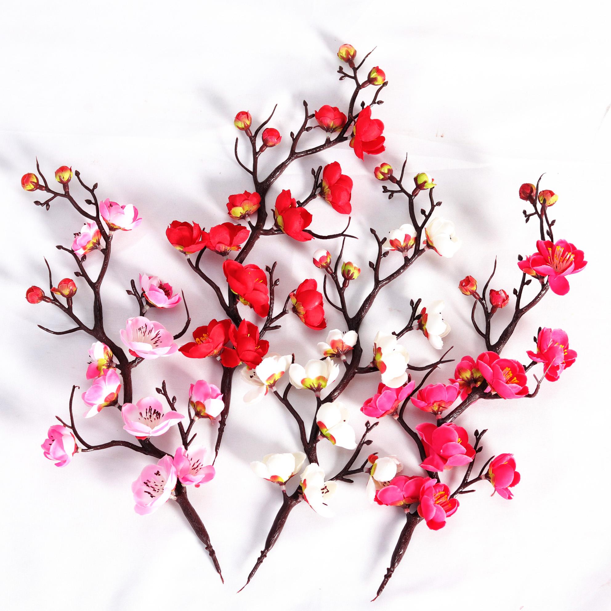 祝寿蛋糕烘焙装饰梅花枝干插件 创意寿星蛋糕情景装饰 仿真梅花条