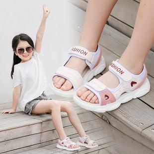 时尚 子夏季 2020新款 小女孩凉鞋 女童凉鞋 公主软底网红小熊鞋 儿童鞋